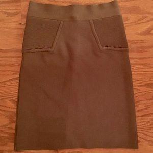 NWOT brown BCBG Bandage Pencil Skirt Size XS